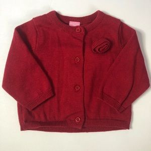 NWOT Button Down Rose Sweater